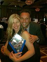 Michael and his wife Sharon celebrating the award at Crown